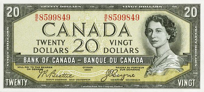 20 Dollars Type 1954 Devil's Face Pick##70