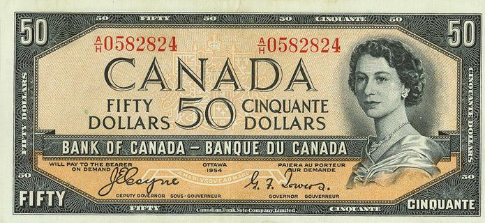 50 Dollars Type 1954 Devil's Face Pick##71