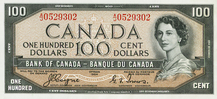100 Dollars Type 1954 Devil's Face Pick##72