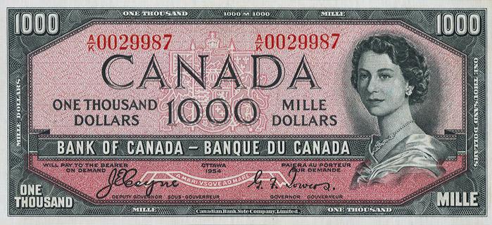 1000 Dollars Type 1954 Devil's Face Pick##73