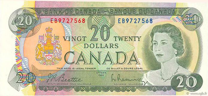 20 Dollars Type 1969 Pick##89