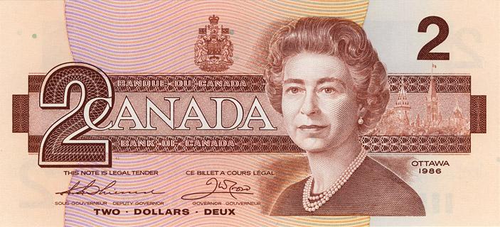 2 Dollars Type 1986 Pick##94