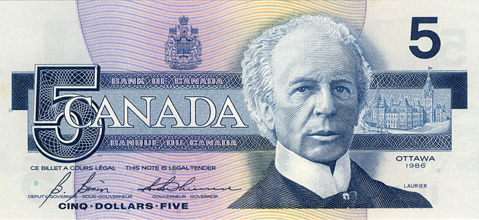 5 Dollars Type 1986 Pick##95