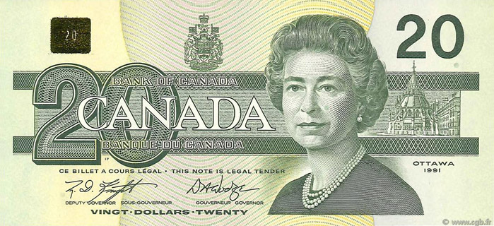 20 Dollars Type 1991 Pick##97