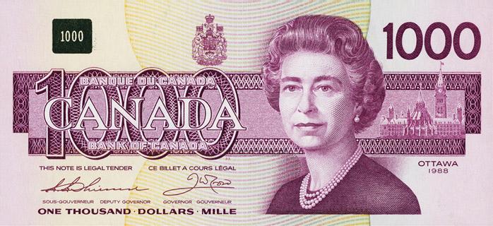 1000 Dollars Type 1988 Pick##100