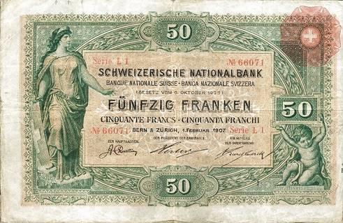 50 francs Type 1907 Pick##1