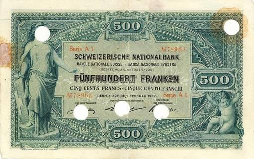 500 francs Type 1907 Pick##3