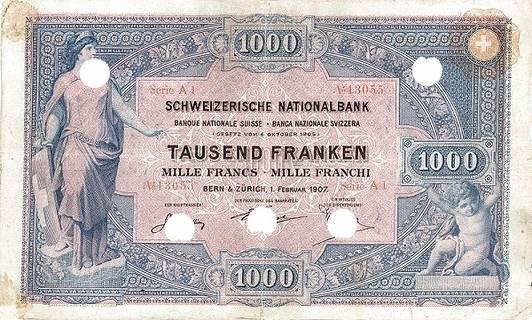 1000 francs Type 1907 Pick##4