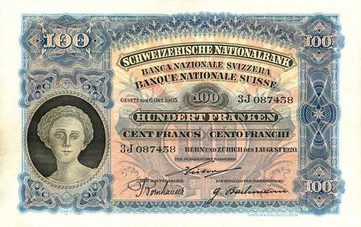 100 francs Type 1910 Pick##6