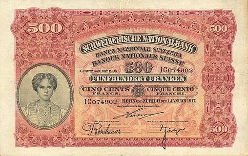 500 francs Type 1910 Pick##7
