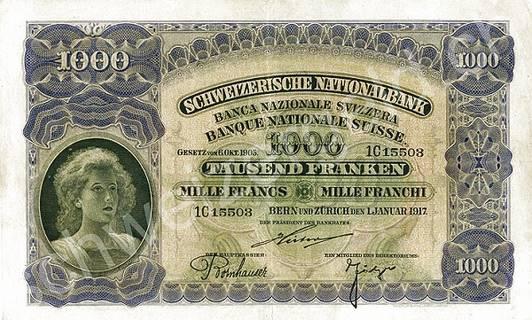 1000 francs Type 1910 Pick##8