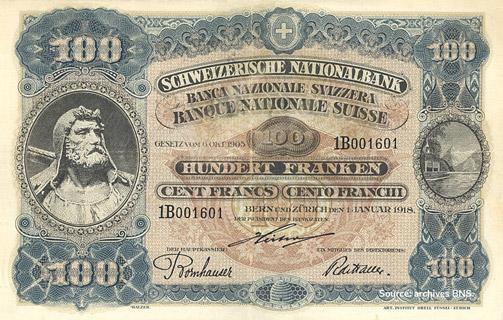 100 francs Type 1918 Pick##9