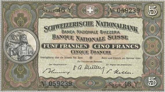 5 francs Type 1913 Pick##11