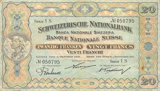20 francs Type 1911 Pick##12