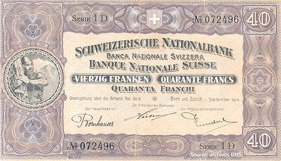 40 francs Type 1914 Pick##13