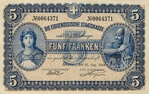 5 francs Type 1914 (AL) Pick##14