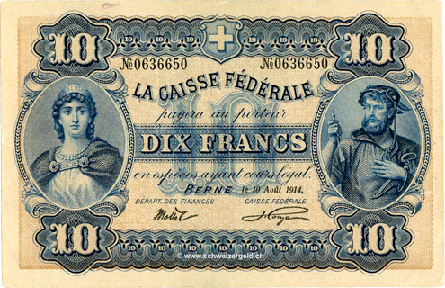 10 francs Type 1914 (FR) Pick##18