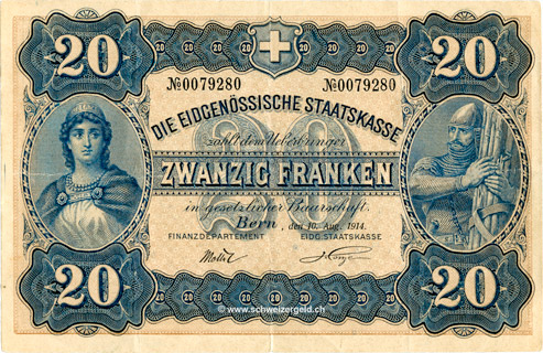 20 francs Type 1914 (AL) Pick##20