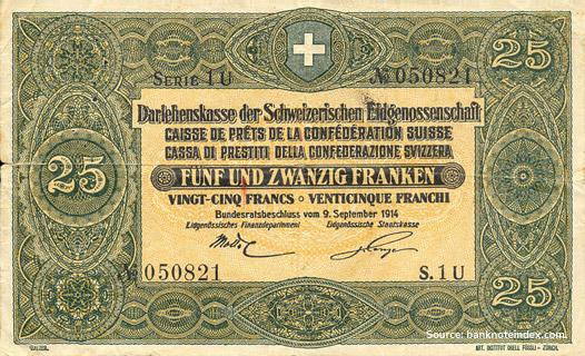 25 francs Type 1914 Pick##23