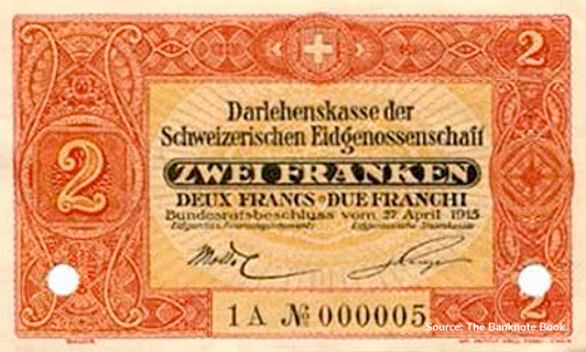 2 francs Type 1915 non émis Pick##26