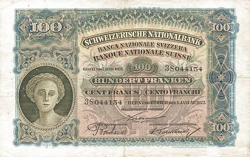 100 francs Type 1923 Pick##28