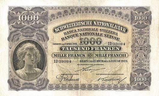 1000 francs Type 1923 Pick##30
