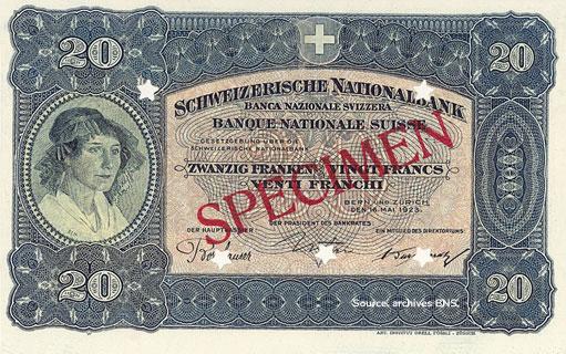 20 francs Type 1923 non émis Pick##32