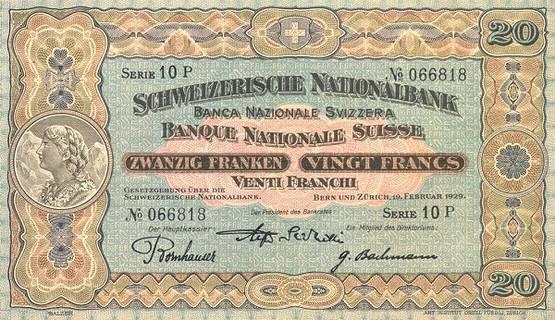 20 francs Type 1923 Pick##33