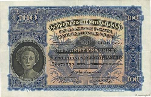 100 francs Type 1924 Pick##35