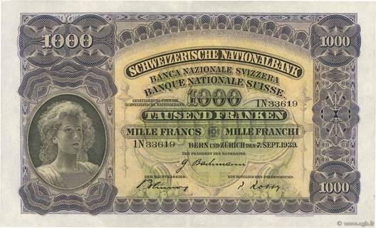 1000 francs Type 1927 Pick##37