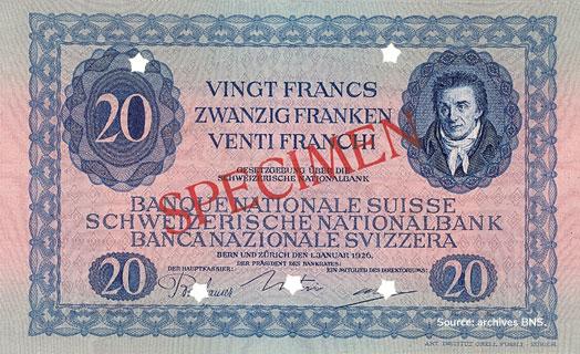 20 francs Type 1925 non émis Pick##38