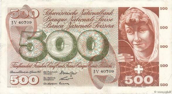 500 francs Type 1961 Pick##51