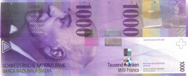 1000 francs Type 1996 Pick##74