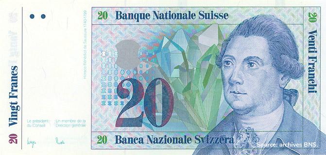 20 francs Type 1984 non émis Pick##61