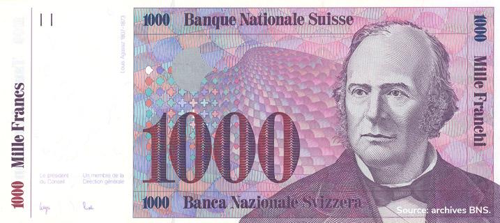 1000 francs Type 1985 non émis Pick##65
