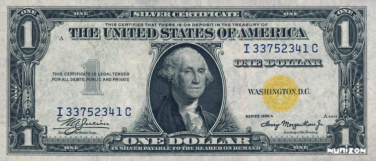 1 dollar Silver certificate Type 1935 Pick#NA