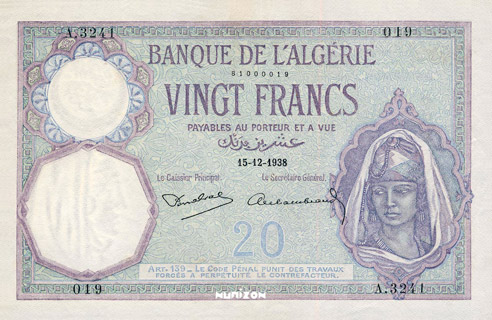 20 francs Type 1912 Pick##78