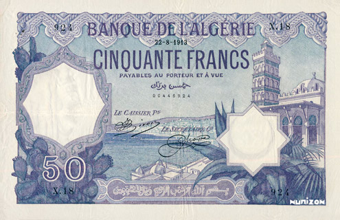 50 francs Violet Type 1912 Pick##79