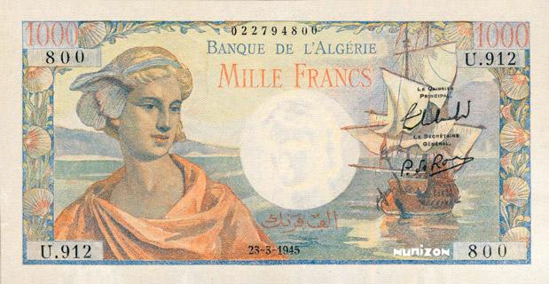 1000 francs Arnaud Type 1945 réserve Pick##96