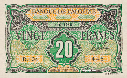 20 francs Type 1946 Pick##103