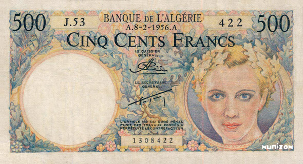 500 francs Starfel Type 1956 Pick##116