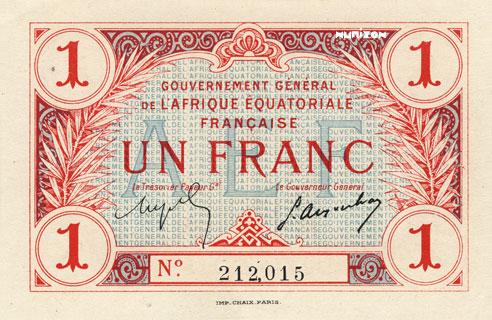 1 franc Type 1917 Pick##2