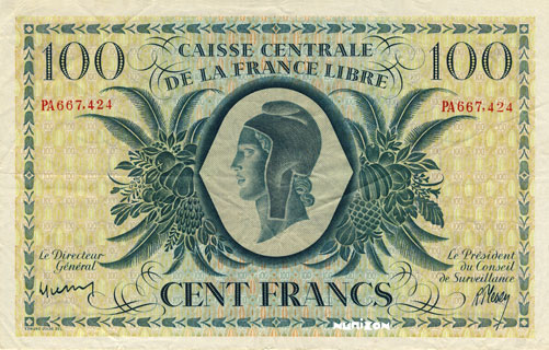 100 francs Type 1941 CCFL Pick##13