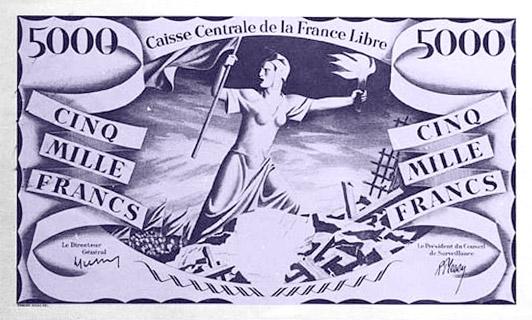 5000 francs Renaissance Type 1941 CCFL non émis Pick##14A