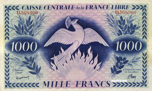 1000 francs Phénix Type 1941 CCFL Pick##14