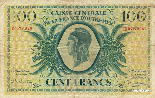 100 francs Type 1943 CCFOM Pick##18