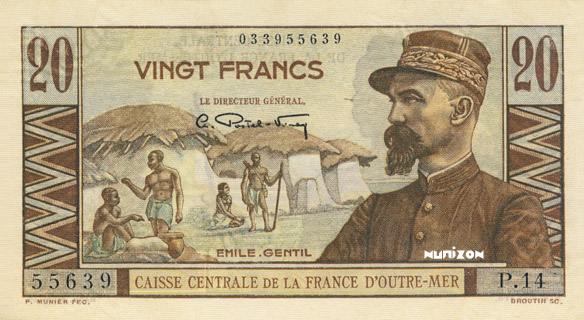 20 francs Émile Gentil Type 1947 Pick##22