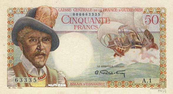 50 francs Belain d'Esnambuc Type 1947 Pick##23