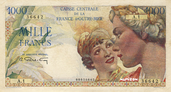 1000 francs Union française Type 1947 Pick##26