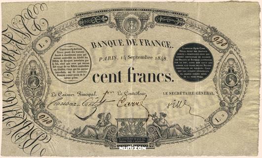 100 francs Type 1848 Définitif Pick##45a